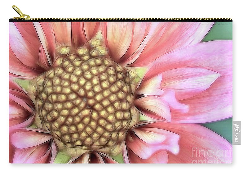 Dahlia Carry-all Pouch featuring the photograph Pinkie by Beve Brown-Clark Photography