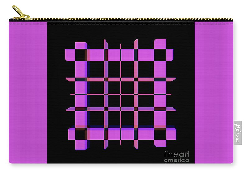 Pink Thing Pattern Carry-all Pouch featuring the digital art Pinky Thing by Elisabet Bondesson
