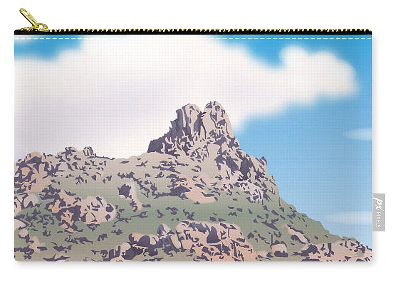 Illustrator Carry-all Pouch featuring the digital art Pinnacle Peak 2 by Joe Roselle