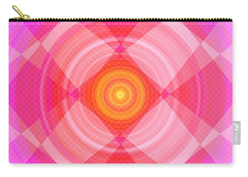 Pinwheel Carry-all Pouch featuring the digital art Pinwheel In Motion by Shawna Rowe