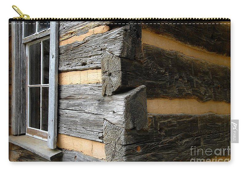 Cabin Carry-all Pouch featuring the photograph Pioneer Craftsmanship by David Lee Thompson