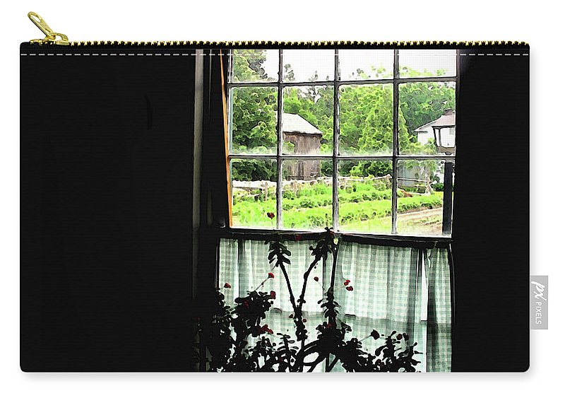 Old Carry-all Pouch featuring the photograph Pioneer Window by Ian MacDonald