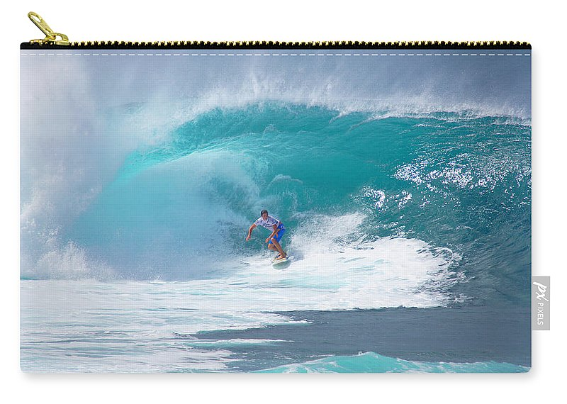 Hawaii Carry-all Pouch featuring the photograph Pipeline's Reef by Kevin Smith