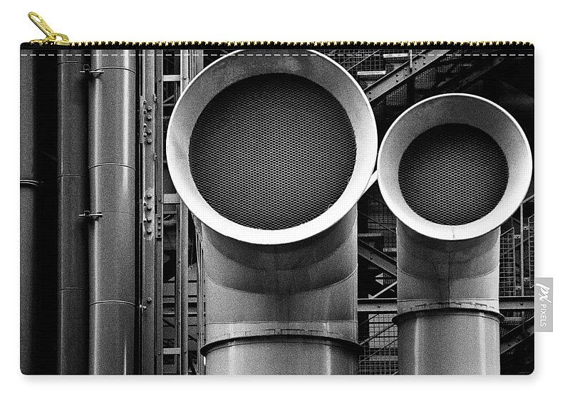 Industry Carry-all Pouch featuring the photograph Pipes by Dave Bowman