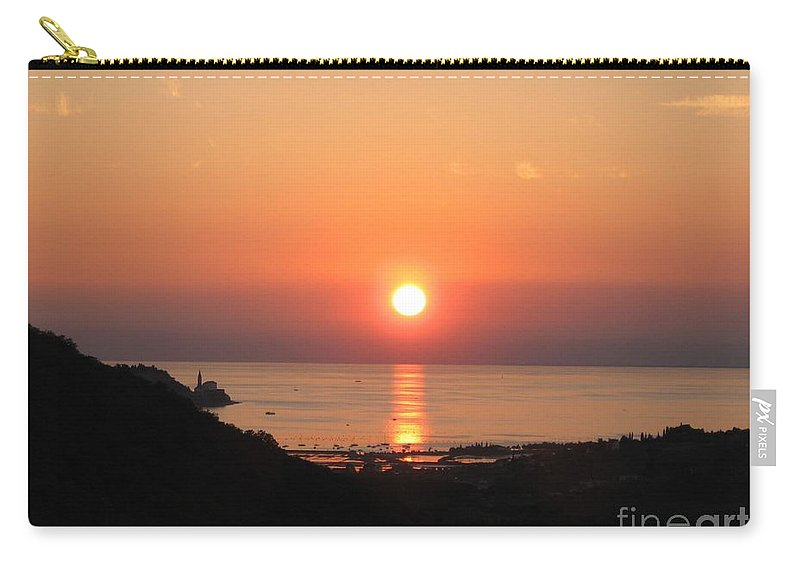 Sunset Sea Carry-all Pouch featuring the photograph Piran's Sunset I by Dragica Micki Fortuna
