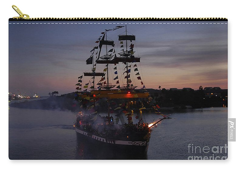 Pirates Carry-all Pouch featuring the photograph Pirate Invasion by David Lee Thompson