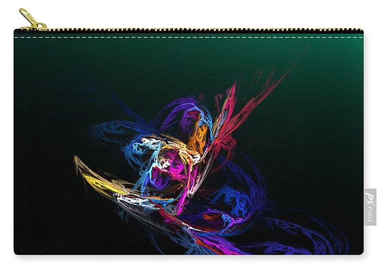 Fine Art Carry-all Pouch featuring the digital art Pirouette by David Lane