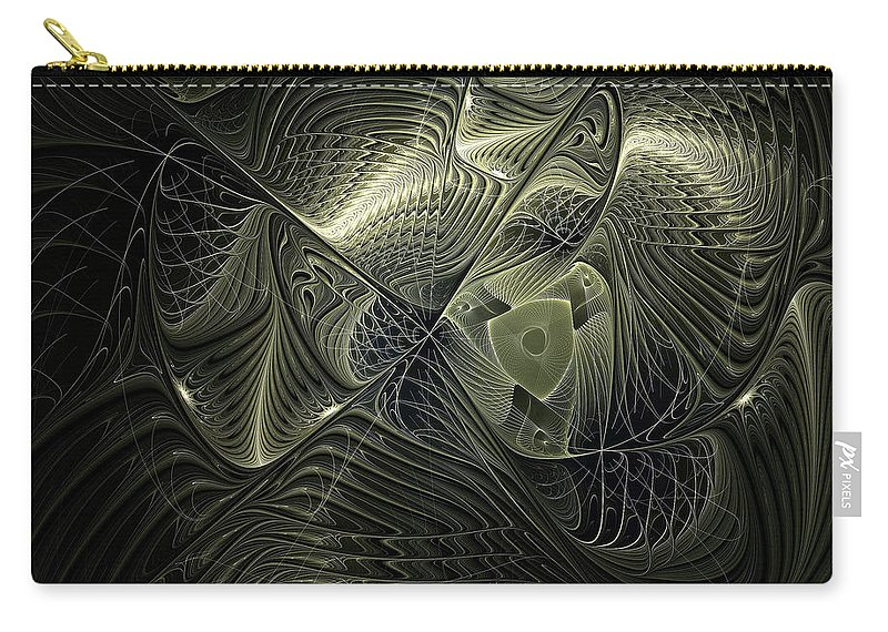 Digital Art Carry-all Pouch featuring the digital art Piscean I by Amanda Moore