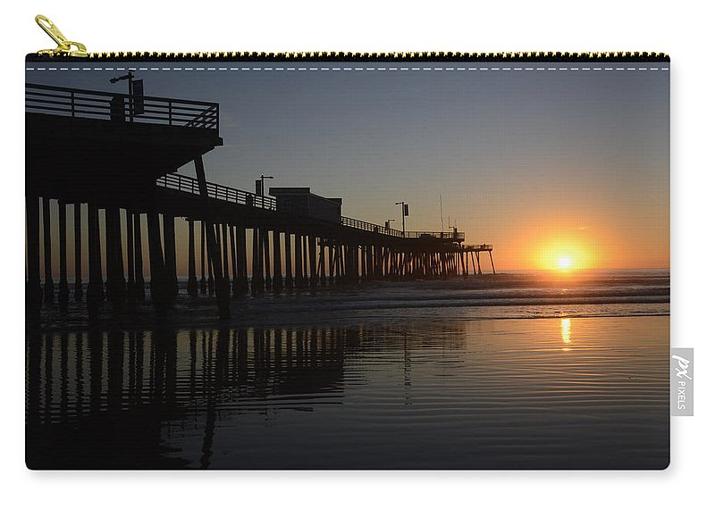 Pismo Carry-all Pouch featuring the photograph Pismo Beach Pier California 4 by Bob Christopher