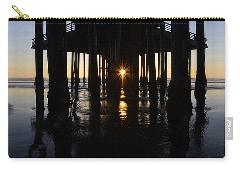 Pismo Carry-all Pouch featuring the photograph Pismo Beach Pier California 7 by Bob Christopher