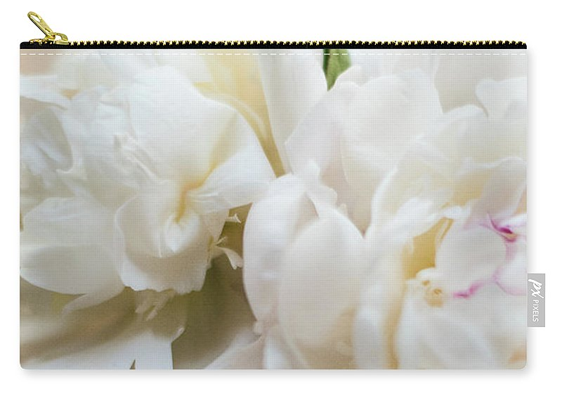 Peonies Carry-all Pouch featuring the photograph Pitcher Of Peonies by Jessica Ruscello