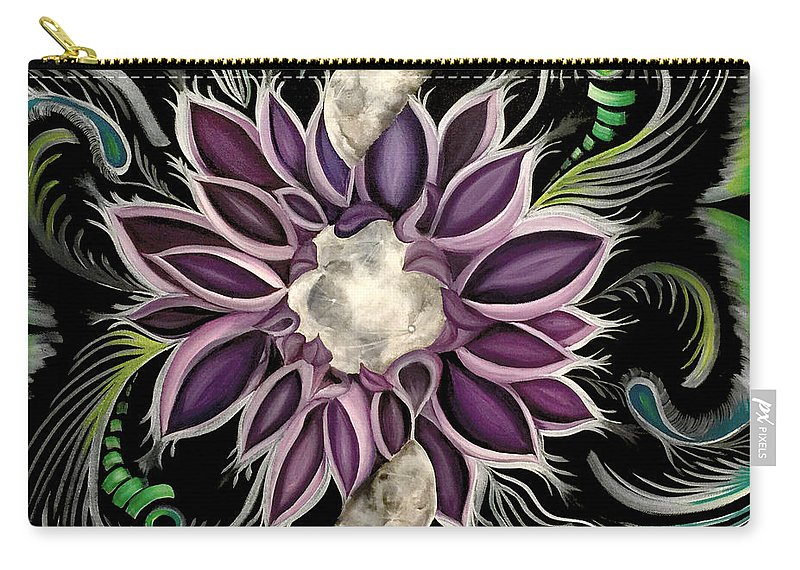 Vibrancy Carry-all Pouch featuring the painting Pivotal Transcendence by Katy Quezada