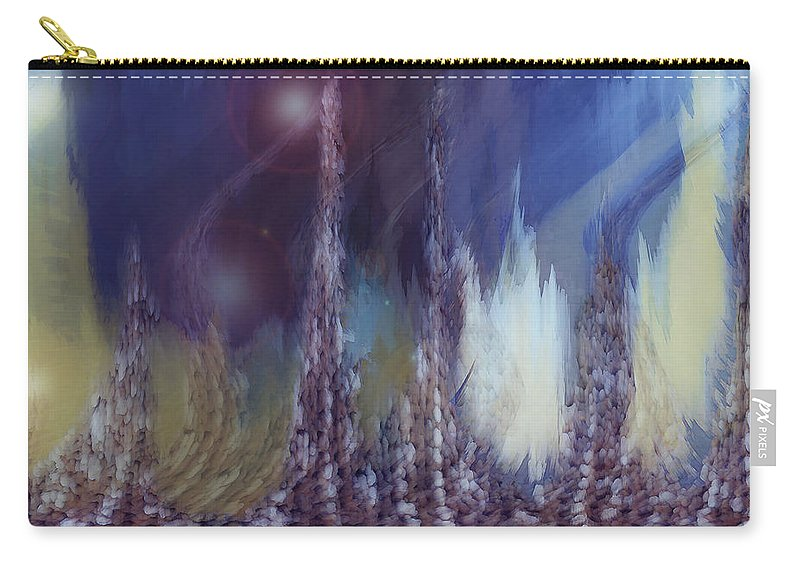 Abstract Carry-all Pouch featuring the digital art Pixel Dream by Linda Sannuti