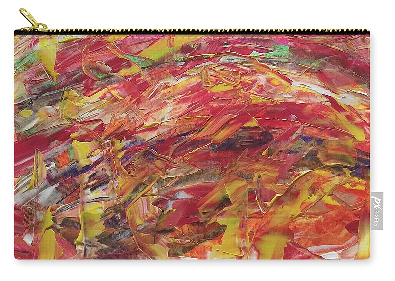 Carry-all Pouch featuring the painting Pizza by Lisa Porter