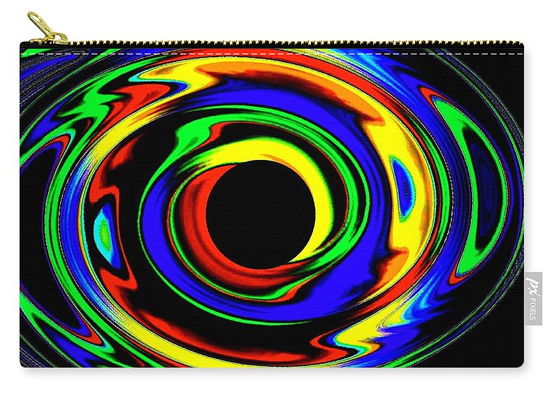 Abstract Carry-all Pouch featuring the digital art Pizzazz 12 by Will Borden