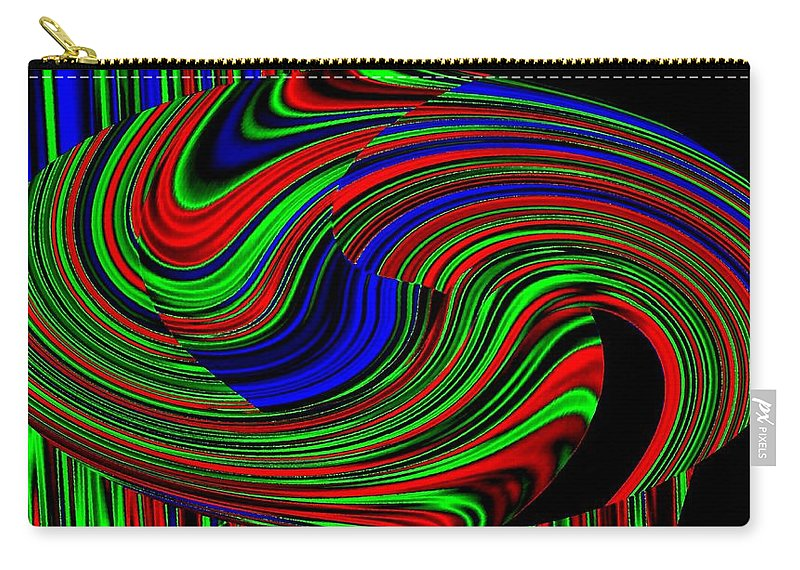 Abstract Carry-all Pouch featuring the digital art Pizzazz 18 by Will Borden