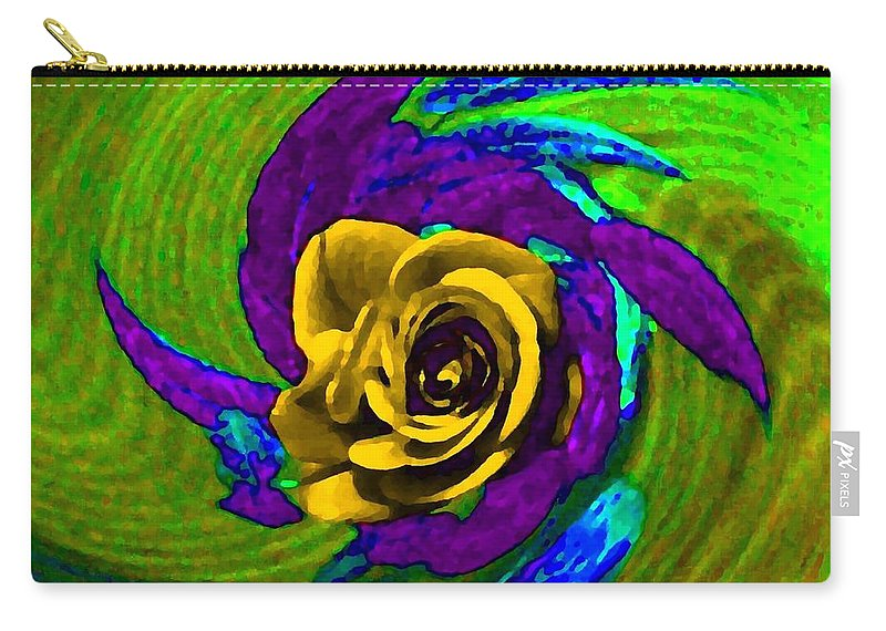 Abstract Carry-all Pouch featuring the digital art Pizzazz 4 by Will Borden