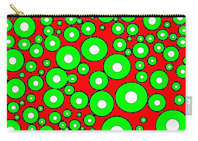 Abstract Carry-all Pouch featuring the digital art Pizzazz 5 by Will Borden