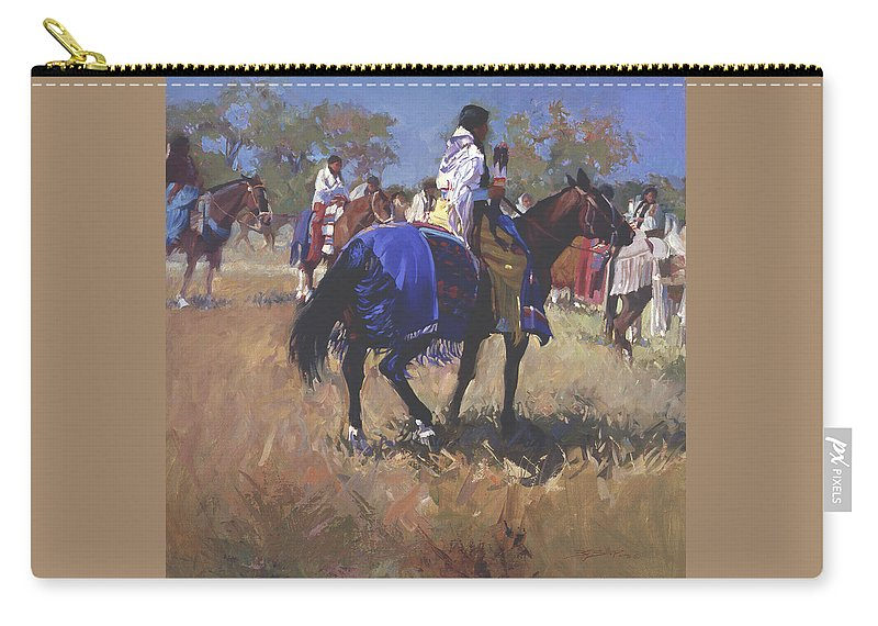 Horses Carry-all Pouch featuring the digital art Place Of The Sun L. E. P. by Betty Jean Billups