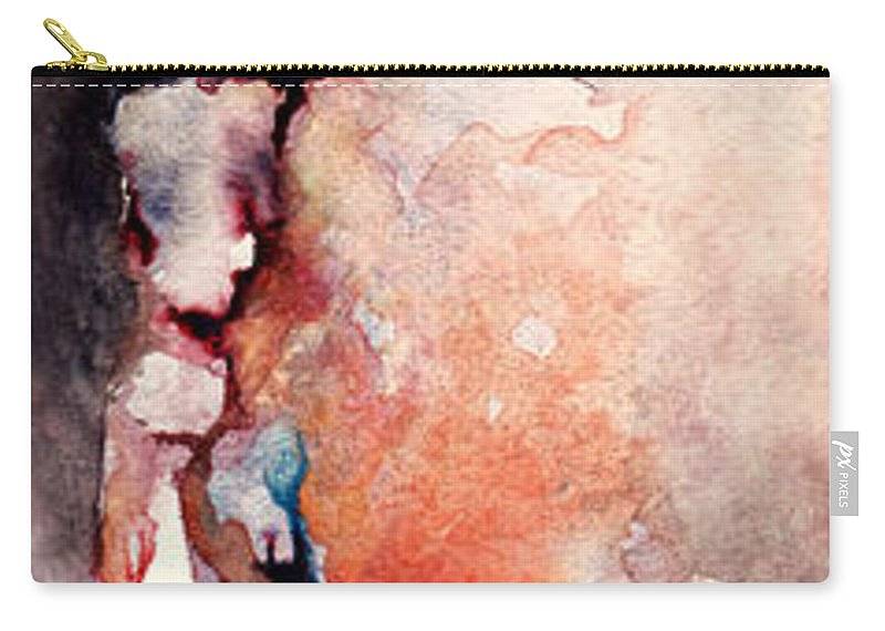 Abstract Carry-all Pouch featuring the painting Places In The Heart by Rachel Christine Nowicki