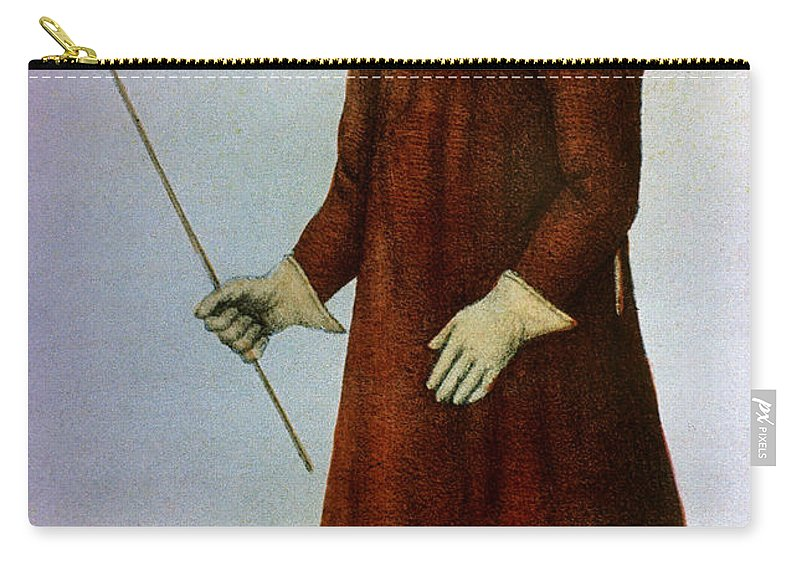 1720 Carry-all Pouch featuring the photograph Plague Costume by Granger