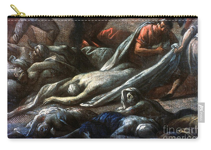 1720 Carry-all Pouch featuring the photograph Plague In Marseilles, 1720 by Granger