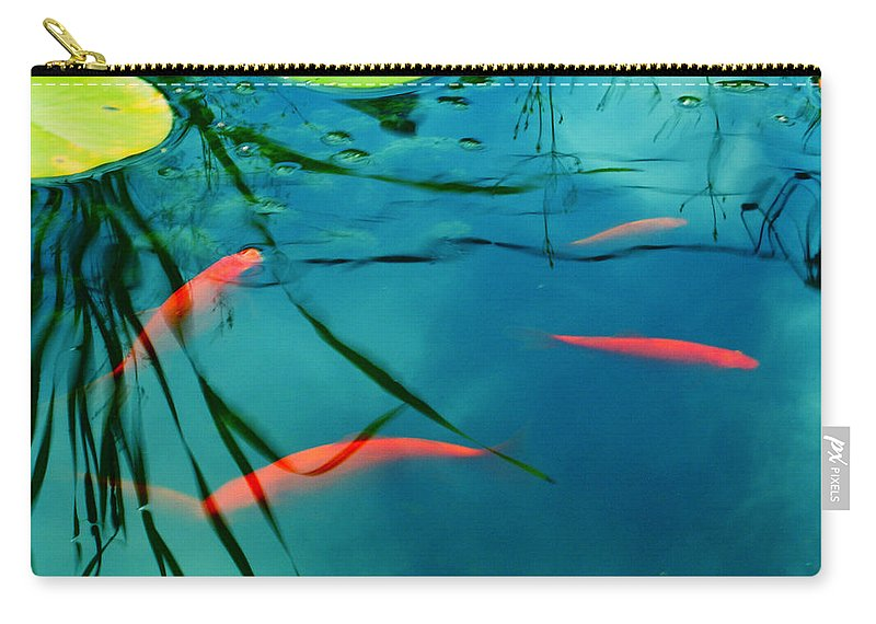 Fish Carry-all Pouch featuring the photograph Plaisir Aquatique by Aimelle