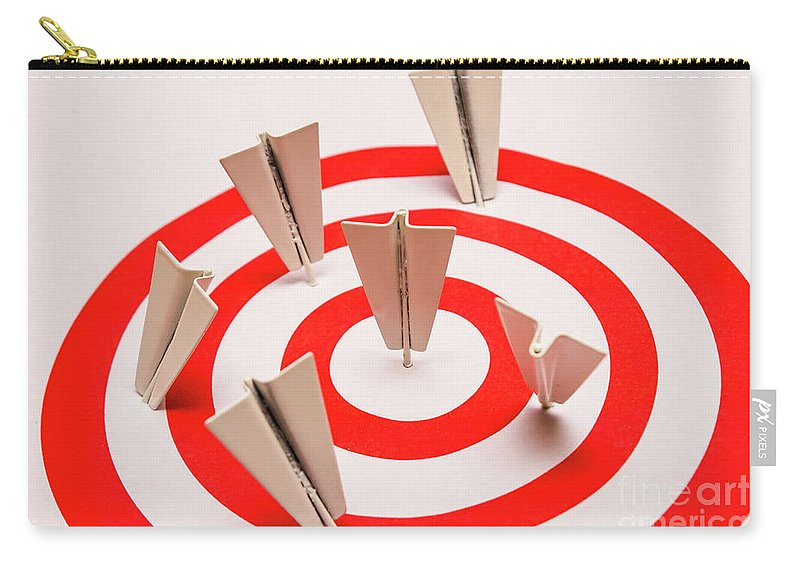 Goal Carry-all Pouch featuring the photograph Plane Goal by Jorgo Photography - Wall Art Gallery