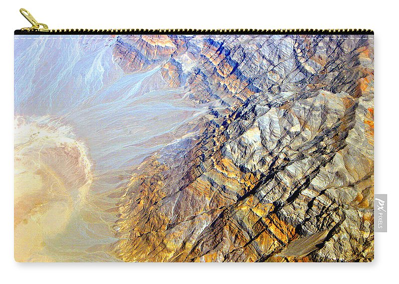 Aerial Carry-all Pouch featuring the photograph Planet Earth Eight by James BO Insogna