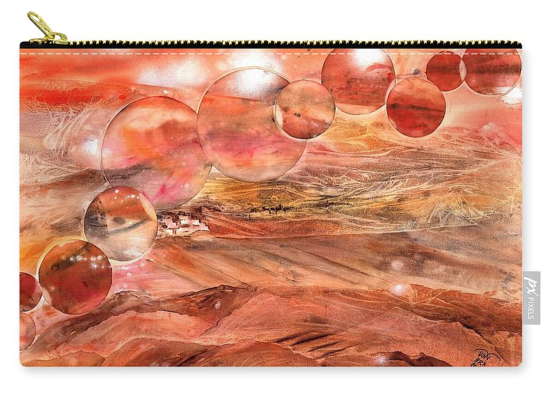 Desert Carry-all Pouch featuring the painting Planet Earth - Save Our Deserts by Sabina Von Arx