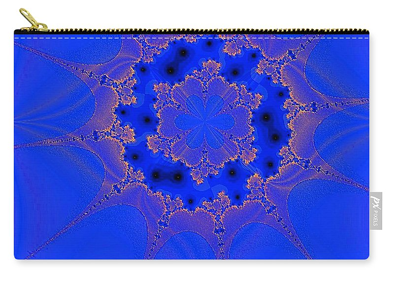 Abstract Carry-all Pouch featuring the digital art Plankton 3 by Dragica Micki Fortuna