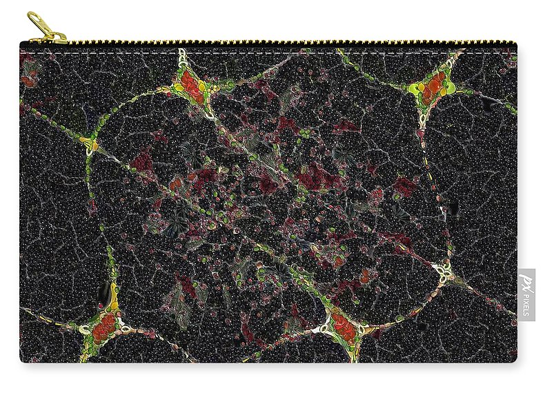 Digital Art Carry-all Pouch featuring the painting Plankton II by Dragica Micki Fortuna