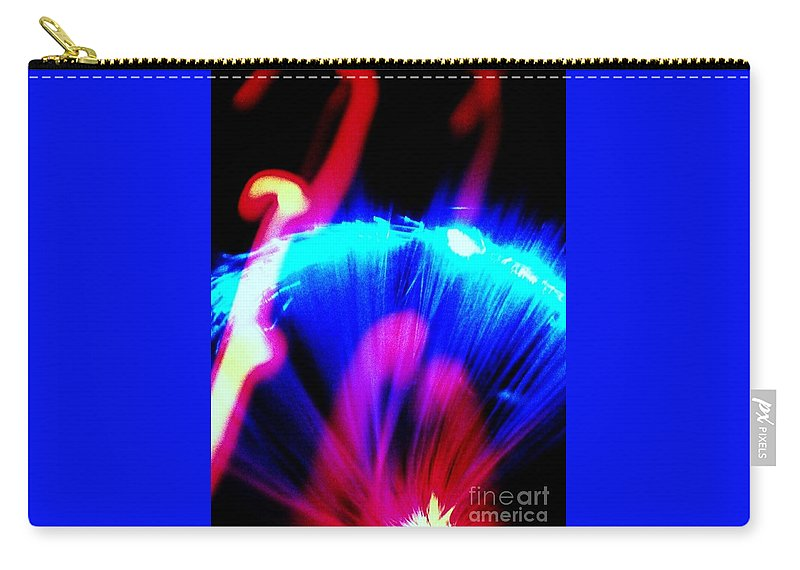 Blue Carry-all Pouch featuring the digital art Plasma by Lauren Powell