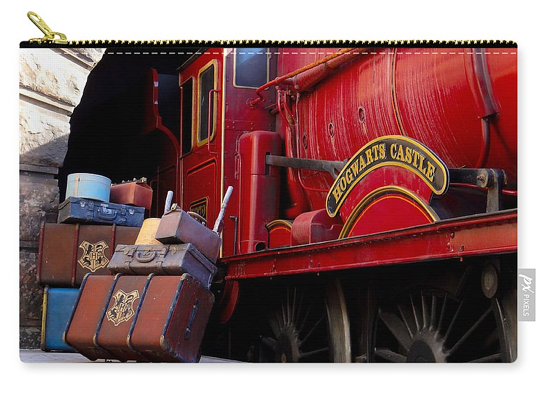 Train Carry-all Pouch featuring the photograph Platform Nine And Three Quarters by Julia Wilcox