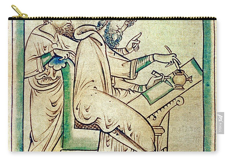 13th Century Carry-all Pouch featuring the photograph Plato With Socrates by Granger