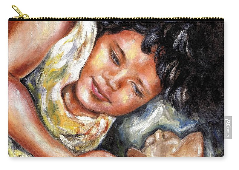 Child Carry-all Pouch featuring the painting Play Time by Hiroko Sakai