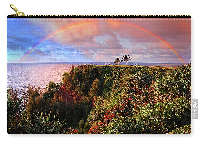 Rainbow Carry-all Pouch featuring the photograph Play Time In Paradise by Lynn Bauer