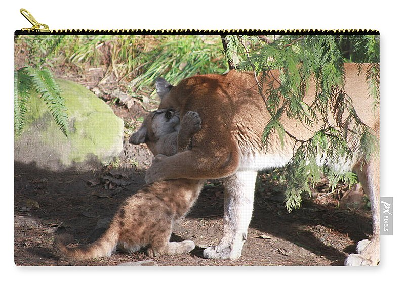 Palus Carry-all Pouch featuring the photograph Playful Hugs by Laddie Halupa