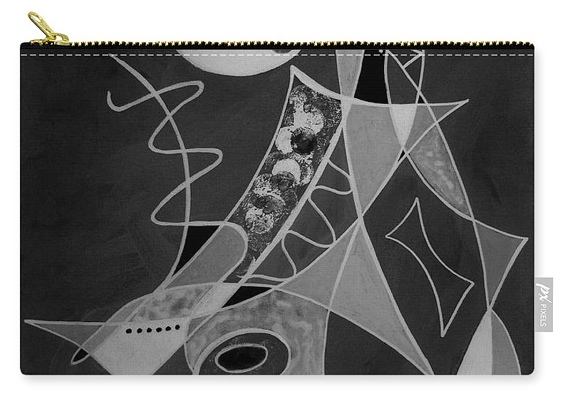 Abstract Carry-all Pouch featuring the painting Playing Go Fish by Ruth Palmer