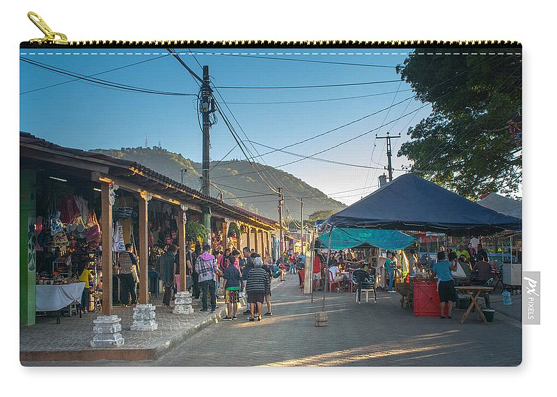 Apaneca Carry-all Pouch featuring the photograph Plaza Central Apaneca by Totto Ponce