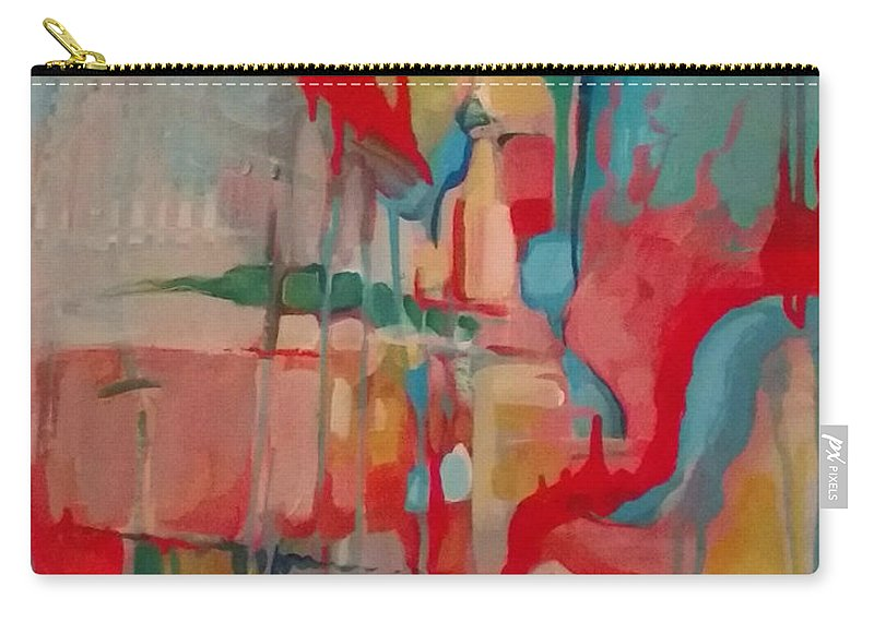 Abstract Carry-all Pouch featuring the painting Pleasantly Lost by Kristin Lozoya