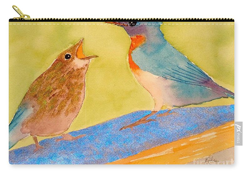 Eileen Tascioglu Carry-all Pouch featuring the painting Please Please Please by Eileen Tascioglu