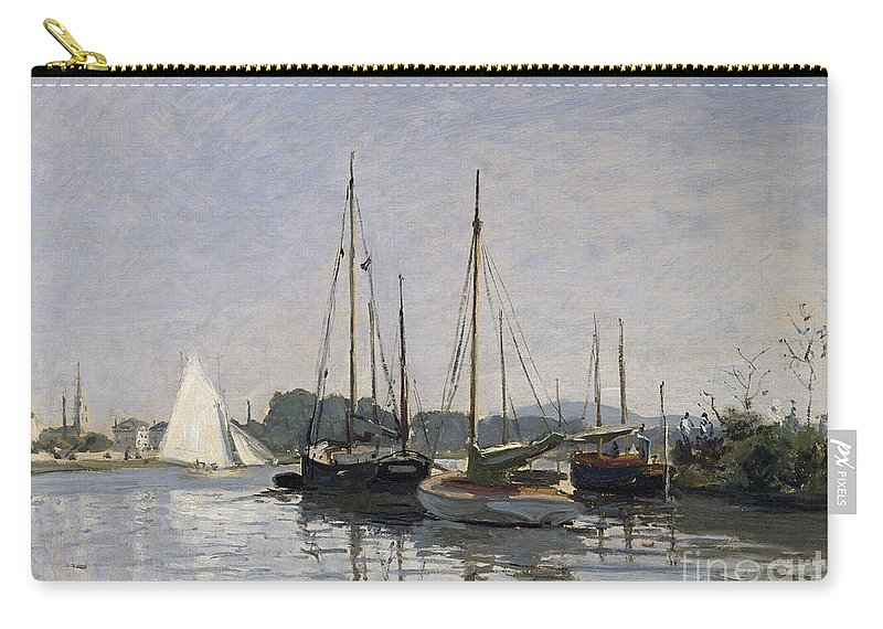 Pleasure Boats Carry-all Pouch featuring the painting Pleasure Boats Argenteuil by Claude Monet