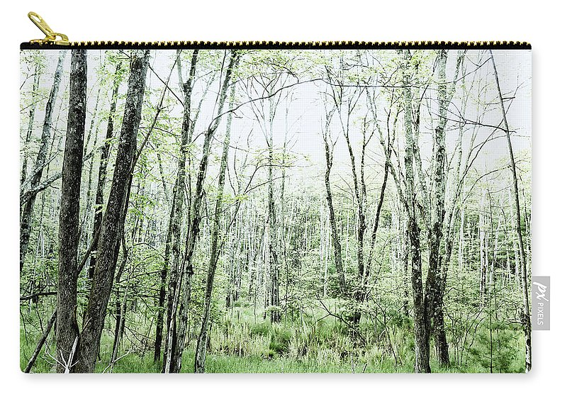 Woods Carry-all Pouch featuring the photograph Pleasure Of Pathless Woods - Alt by Belinda Greb