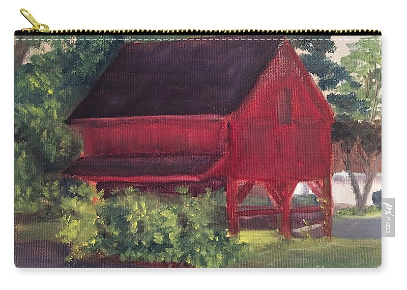 Medford Carry-all Pouch featuring the painting Plein Aire 7-12-16 by Sheila Mashaw