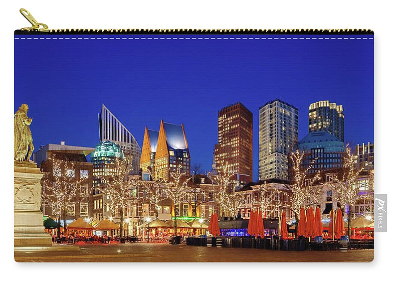 The Hague Carry-all Pouch featuring the photograph Plein At Blue Hour - The Hague by Barry O Carroll