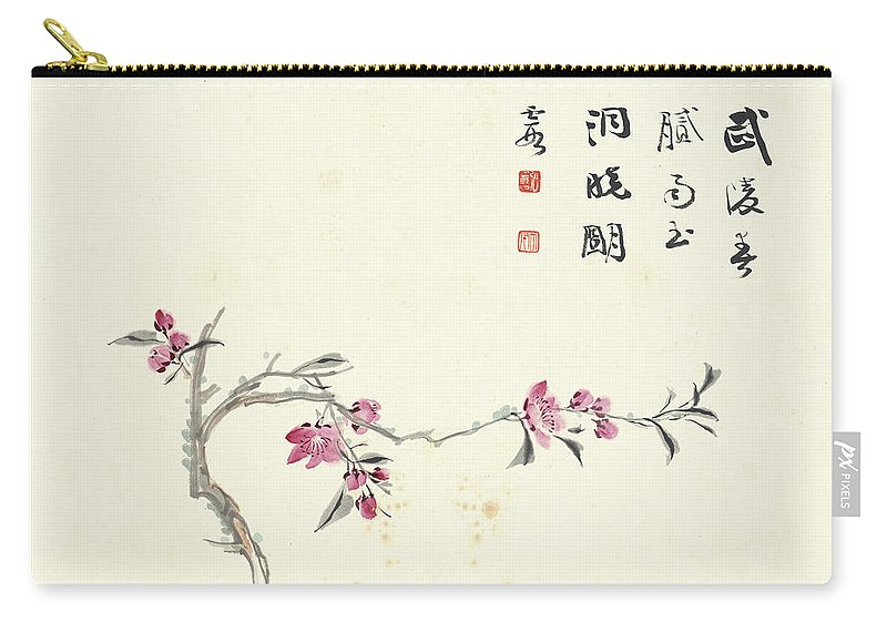 Plum Blossom Carry-all Pouch featuring the painting Plum Blossom by Zhang Daqian