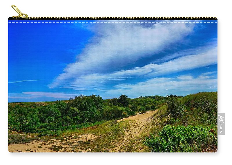 Coast Carry-all Pouch featuring the photograph Plum Island Dunes by Lilia D