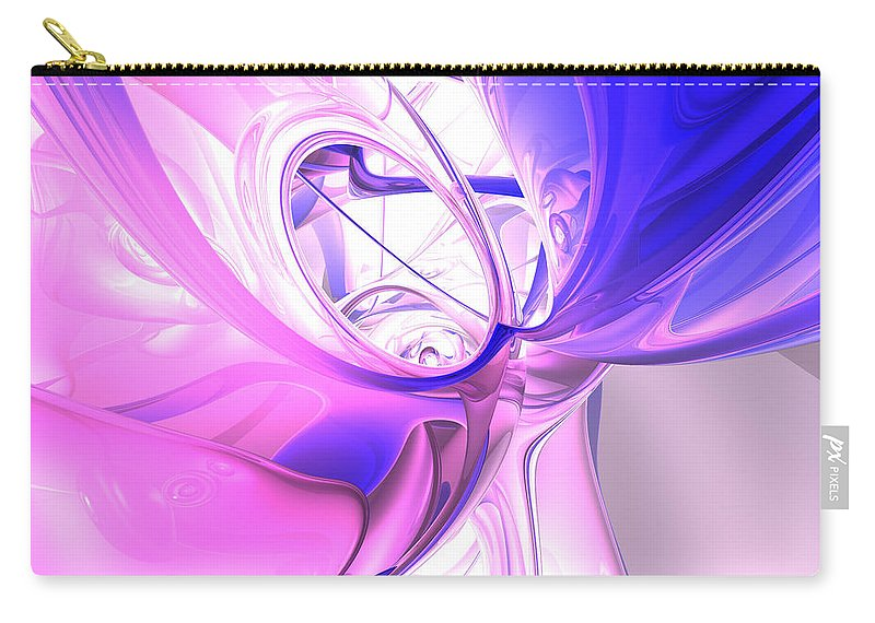 3d Carry-all Pouch featuring the digital art Plum Juices Abstract by Alexander Butler