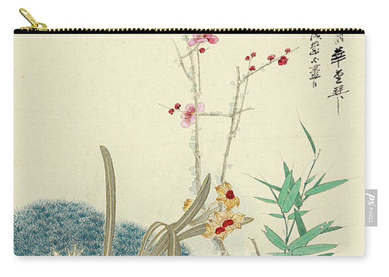 Zhang Daqian (10 May 1899 – 2 April 1983) Was One Of The Best-known And Most Prodigious Chinese Artists Of The Twentieth Century. Originally Known As A Guohua (traditionalist) Painter Carry-all Pouch featuring the painting Plum Pine Orchid by Zhang Daqian